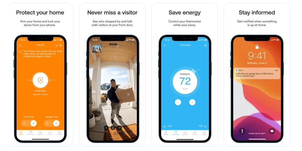 Vivint Smart Home App screenshots