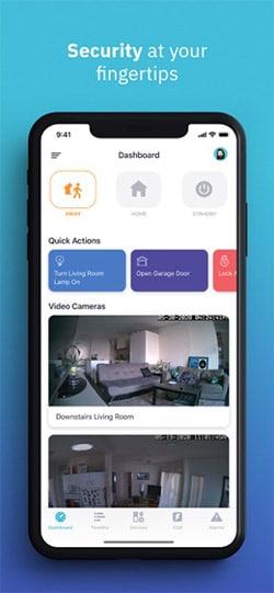 Abode Home Security App Screenshot