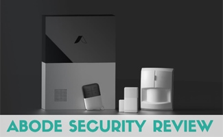 Abode security system on counter (Caption: Abode Security Review)