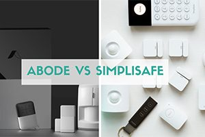 Abode vs SimpliSafe side by side (caption: Abode vs SimpliSafe)