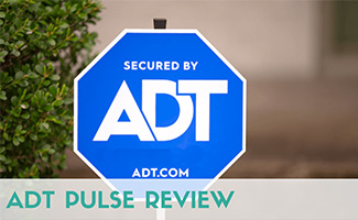 ADT Sign (caption: ADT Pulse Review)