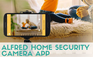 Mom and kid being monitored on smart phone camera app (Caption: Alfred Home Security Camera App)