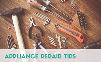 Tools on a table: Appliance Repair Tips