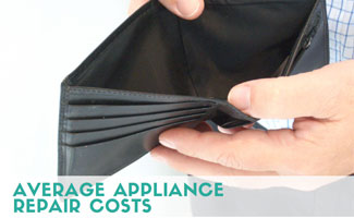Man opening wallet: Average Appliance Repair Costs