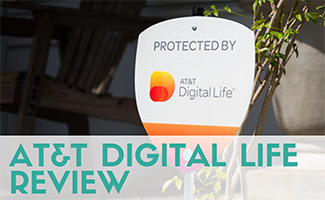 AT&T Digital Life security sign in yard (caption: AT&T Digital Life Review)
