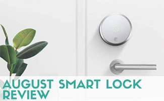 August Smart Lock on door (caption: August Smart Lock Review)