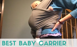 Kimberly in baby carrier
