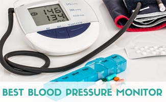 Blood pressure monitor and a container of pills (Caption: Best Blood Pressure Monitor)