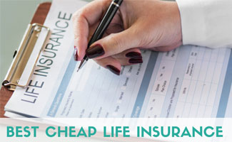 Woman filling out life insurance form (caption: Best Cheap Life Insurance)