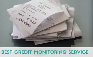 Mountain of bills (caption: best credit monitoring service)