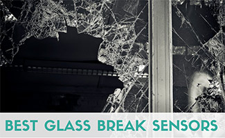 Broken window (caption: Best Glass Break Sensors)