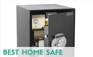 Safe open with valuables inside
