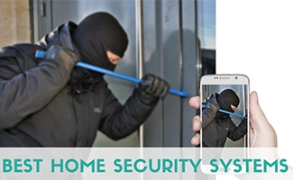 Burglar breaking into home (Caption: Best Home Security Systems)
