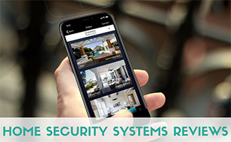 Home security app (caption: Home Security Systems Reviews)