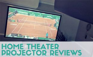 Home projector with tennis on