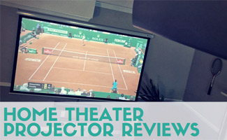 Home projector showing tennis match