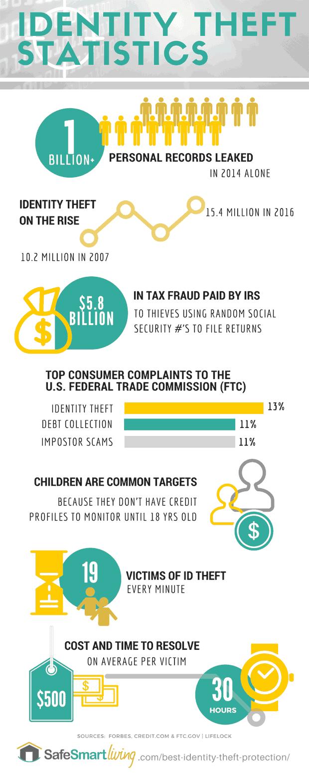 ID Theft Statistics Infographic