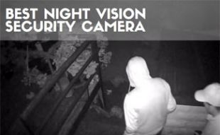 Two robbers in night vision camera