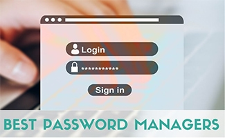 Person entering username and password on login screen (caption: Best Password Managers)