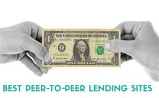 Hands holding a dollar bill (caption: Best Peer-To-Peer Lending Sites)