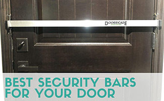 Security bar in door (caption: Best Security Bars For Your Door)