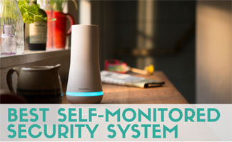 Security system on desk (caption: Best Self-Monitored Security System)