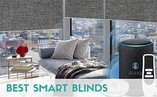 Smart blinds in apartment (caption: Best Smart Blinds)