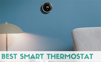 Google nest on wall (caption: Best Smart Thermostat)
