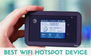 Person holding AT&T hotspot: Best Wifi Hotspot Device