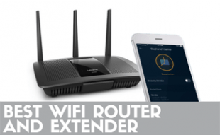 WiFi Router and Extender and phone