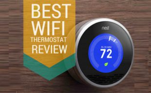 Nest on wall: Best Wifi Thermostat