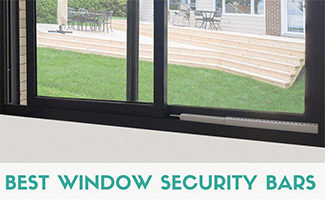 Window with bar (caption: Best Window Security Bars)