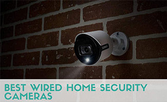 Lorex camera at night (caption: Best Wired Home Security Cameras)