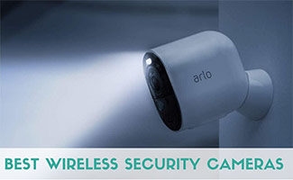 Arlo camera at night (caption: Best Wireless Security Cameras)