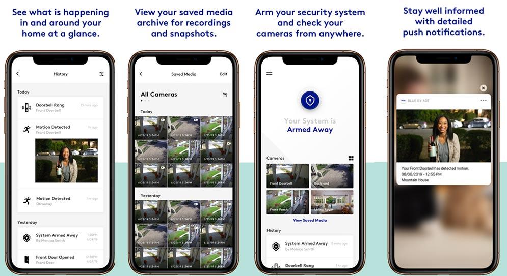 Blue By ADT App screenshots