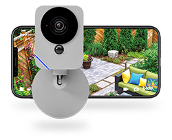 Blue Outdoor Camera
