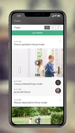 Canary App Screenshot