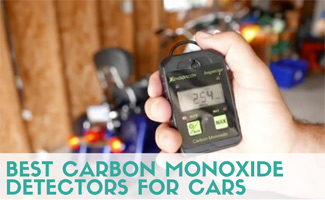 Person holding C02 detector in hand (caption: Best Carbon Monoxide Detectors For Cars)