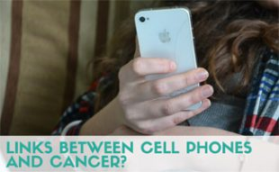Sick person holding cracked iphone: Are There Links Between Cell Phones and Cancer?