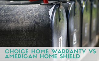 Row of mailboxes: Choice Home Warranty vs American Home Shield