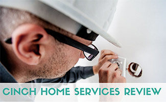Repair man working (caption: Cinch Home Services Review)