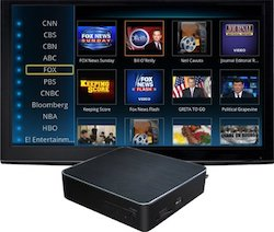 Smart TV with box