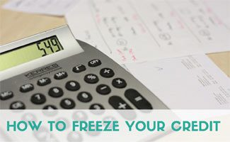 Calculator with bills: How to Freeze Your Credit
