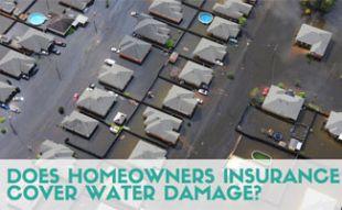 Overhead shot of houses flooded