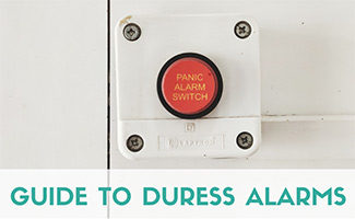 Panic button (caption: Guide to Duress Alarms)
