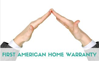 Hands in the shape of a house: First American Home Warranty