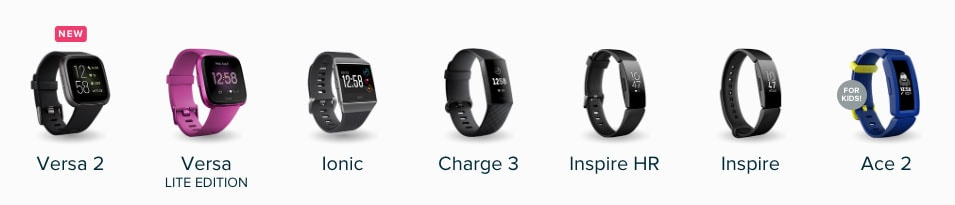 Fitbit watches side by side