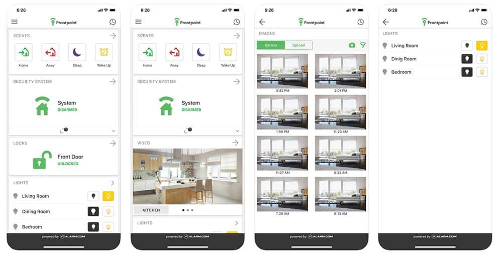 Frontpoint App Screenshots