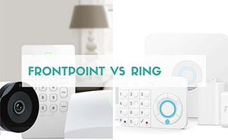 Frontpoint and Ring systems side by side (caption: Frontpoint vs Ring)