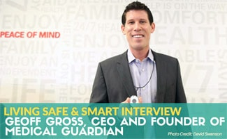 Geoff Gross holding Medican Guardian: Interview with Geoff Gross, CEO and Founder of Medical Guardian